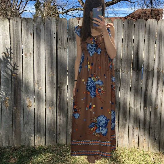 1970s vintage and handmade psychedelic print maxi… - image 6