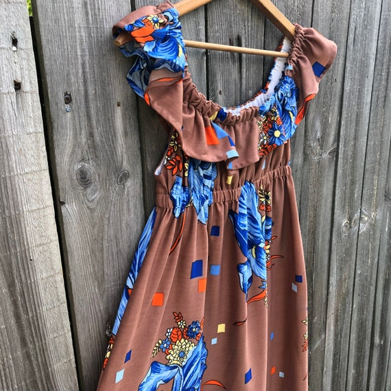 1970s vintage and handmade psychedelic print maxi… - image 9