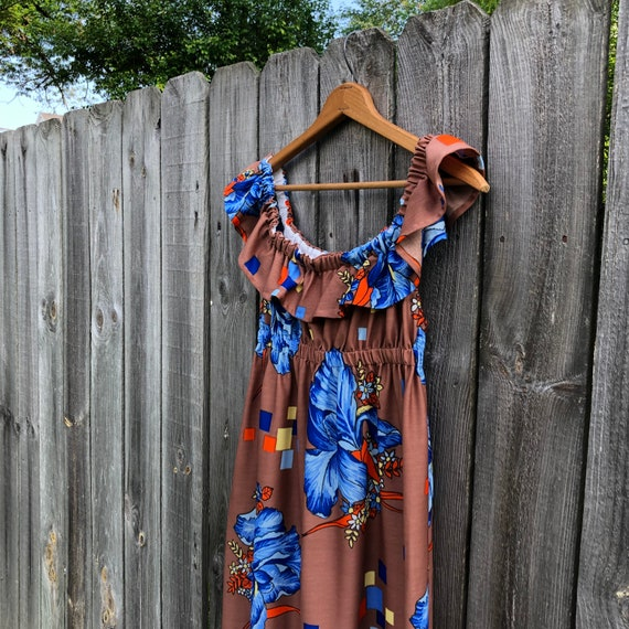 1970s vintage and handmade psychedelic print maxi… - image 3