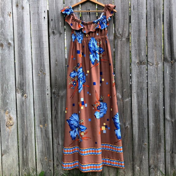 1970s vintage and handmade psychedelic print maxi… - image 4