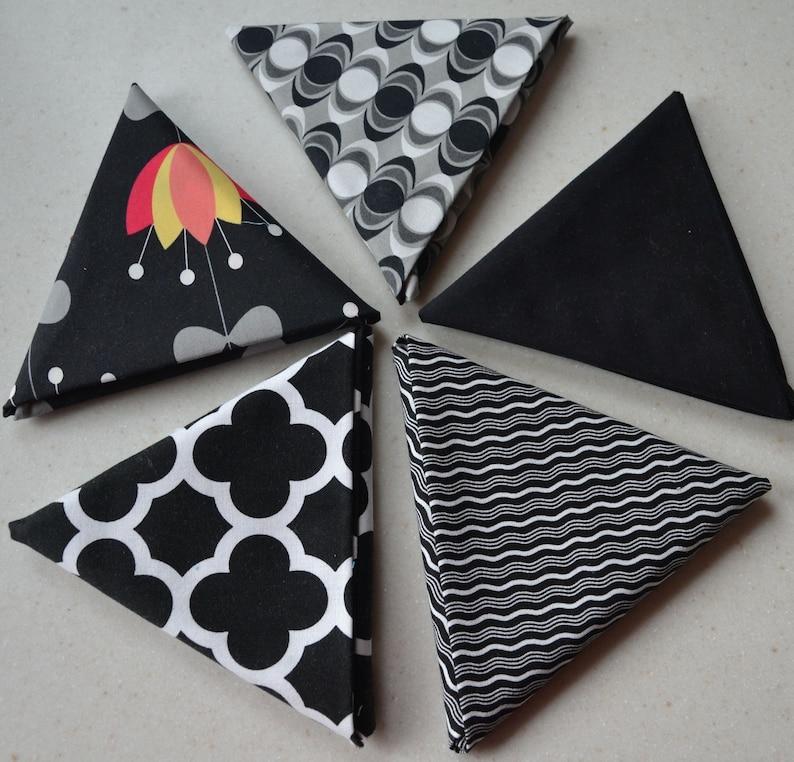 Scrappy Quilt Blanket White Fat Quarter Fabric Bundle Room Decor Floral Cotton Fabric Black Quatrefoil Gift For Her