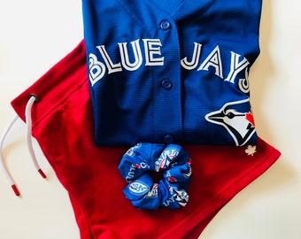 Blue Jays Large Scrunchie