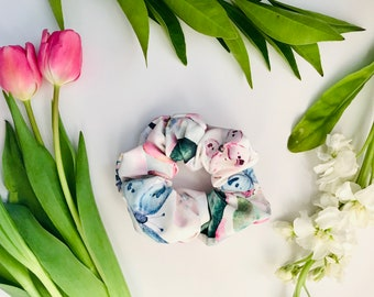 Scrunchies Pink Floral - The Kelly
