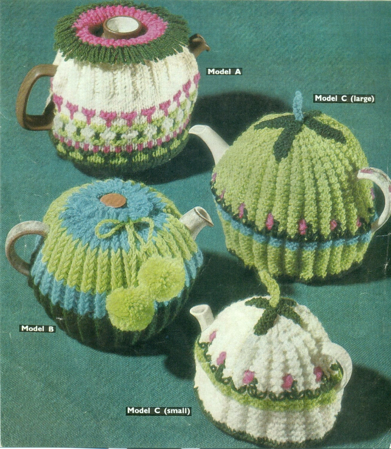Knitting Pattern For A Tea Cosy Cosie Cozy Vintage Knitting Etsy