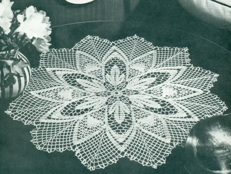 Christmas Crochet Pattern Vintage Crochet Pattern Snowflake Etsy