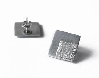 Stud earrings Square earrings Geometric earrings Minimalist earrings Modern earrings Simple earrings Statement earrings Gift for her