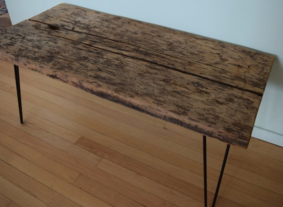 Sensational Reclaimed Barn Wood Coffee Table Bench Black Hairpin Legs Distressed Rustic Antique Barnwood 1700S 1800S 42 X 19 Squirreltailoven Fun Painted Chair Ideas Images Squirreltailovenorg