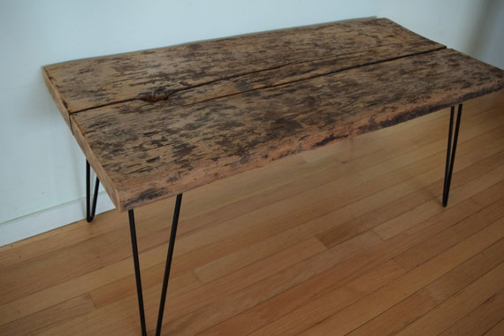 Terrific Reclaimed Barn Wood Coffee Table Bench Black Hairpin Legs Distressed Rustic Antique Barnwood 1700S 1800S 42 X 19 Ibusinesslaw Wood Chair Design Ideas Ibusinesslaworg