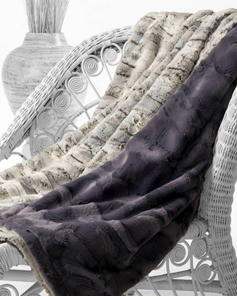 16aa17dd8 Faux Fox Fur Blanket, Luxury Fox Fur, Adult Minky Blanket, Luxury Home  Decor, Faux Fur, Fake Fur Blanket