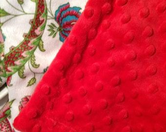 Toddler Girl Blanket, Kids Minky Blanket, Pink Minky Girl Blanket,Floral Baby Blanket, Lap Blanket, Girl Blanket,Size 40 x 50