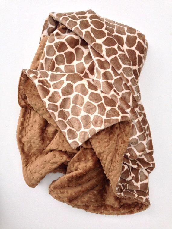 Giraffe Print Minky Blanket Adult Minky Blanket Animal Print Etsy Mesmerizing Giraffe Print Throw Blanket