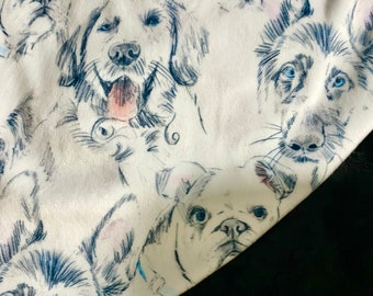 Dog Minky Blanket. Adult Minky Blanket, Personalized Dog Throw Blanket, Dog Lovers Blanket