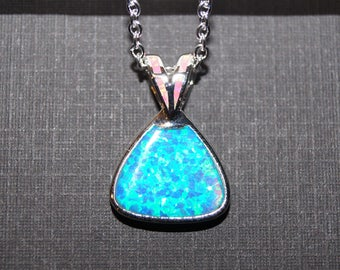 Opal Necklace - October Birthstone - Christmas Gift - Sterling Silver Jewelry