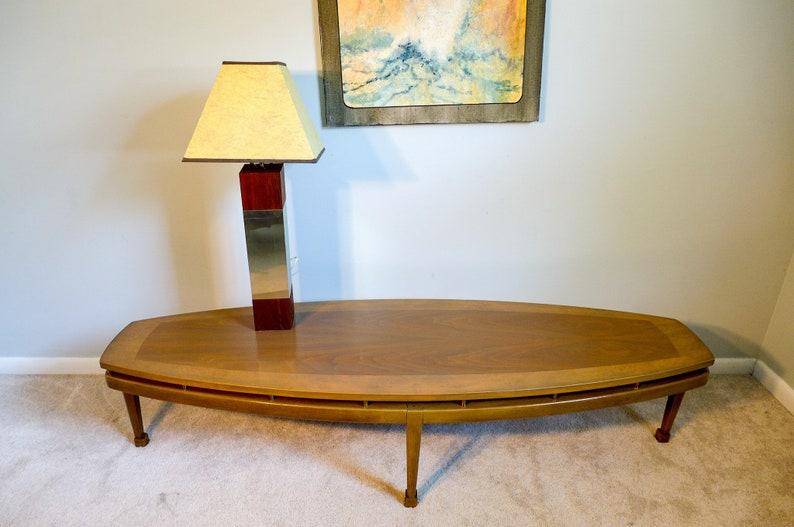 Vintage Surfboard Coffee Table Burl Walnut Solid Wood Long Etsy