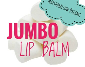 Marshmallow Lip Balm, Jumbo Lip Balm, organic Lip Balm, flavored lip balm, marshmallow flavored, candy, sugar, birthday cake, cotton candy