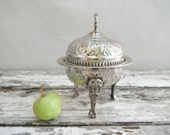 Silver and Gold Turkish Serving Dish