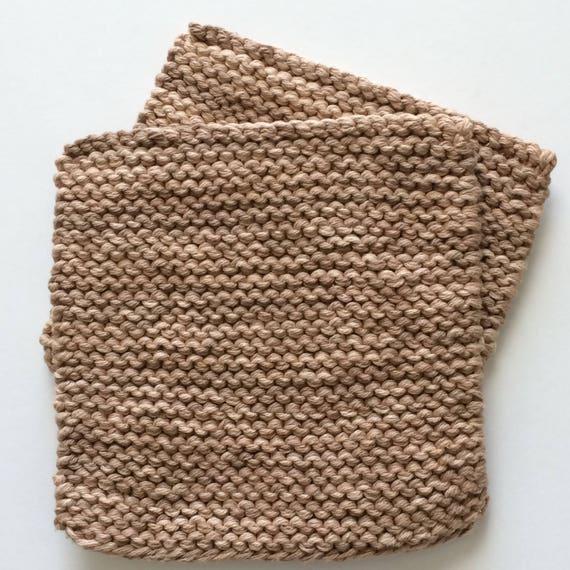 Hand Knit Pot Holders - Set of 2 - Cotton Hot Pads