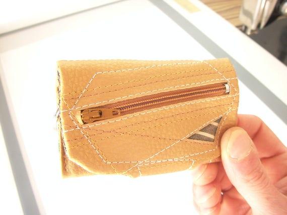 Or Mini portefeuille, simili cuir porte-clés portefeuille combo, simili cuir chaine portefeuille, portefeuille porte-clé, Cool porte-clés portefeuille, organisateur de poche