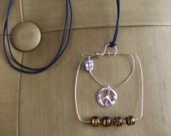 Peace Face Necklace