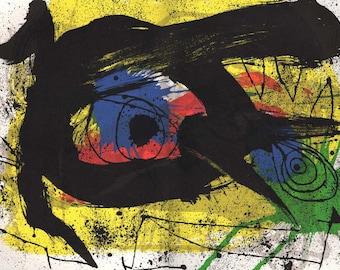 Contemporary art Joan Miro  Original Lithograph Sobreteixims DM03203d 1973