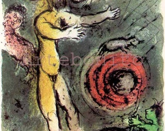 "Chagall Odyssea 1 ""Proteus""  Lithograph 1989  -f"