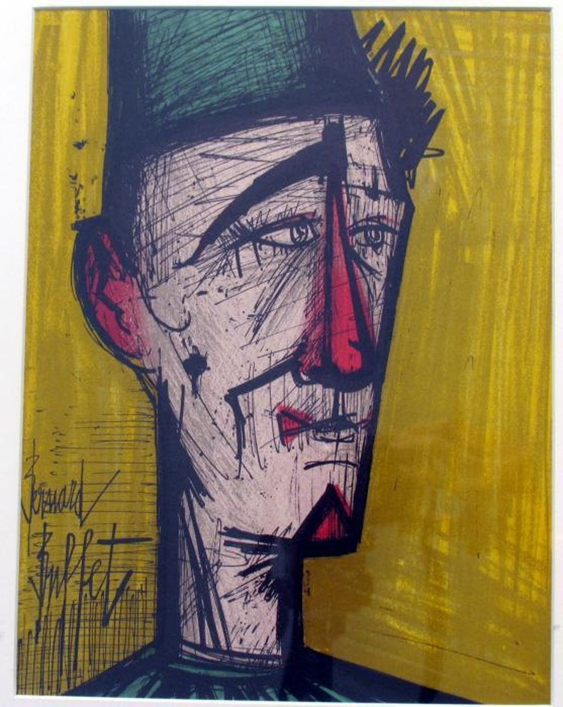 Marvelous Bernard Buffet Jojo The Clown Original Lithograph 1968 Download Free Architecture Designs Lectubocepmadebymaigaardcom