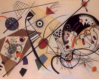 """Kandinsky  """"Unbroken lines"""" limited edition & numbered Print Giclees"""