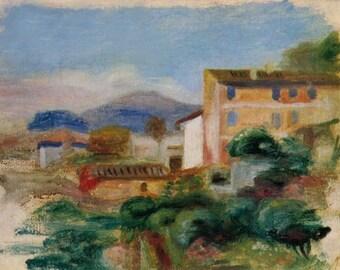"""Renoir  """"Maison de la poste"""" limited edition & numbered Print Giclees"""