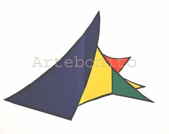 "Calder Original Lithograph ""DM26141""  Size 15 x 22 inch  printed 1963  -h"