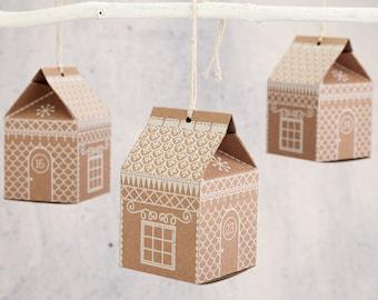 Advent Calendar - Gingerbread House Advent Calendar - Christmas countdown, calender, xmas decoration, christmas tree decoration, fairytale