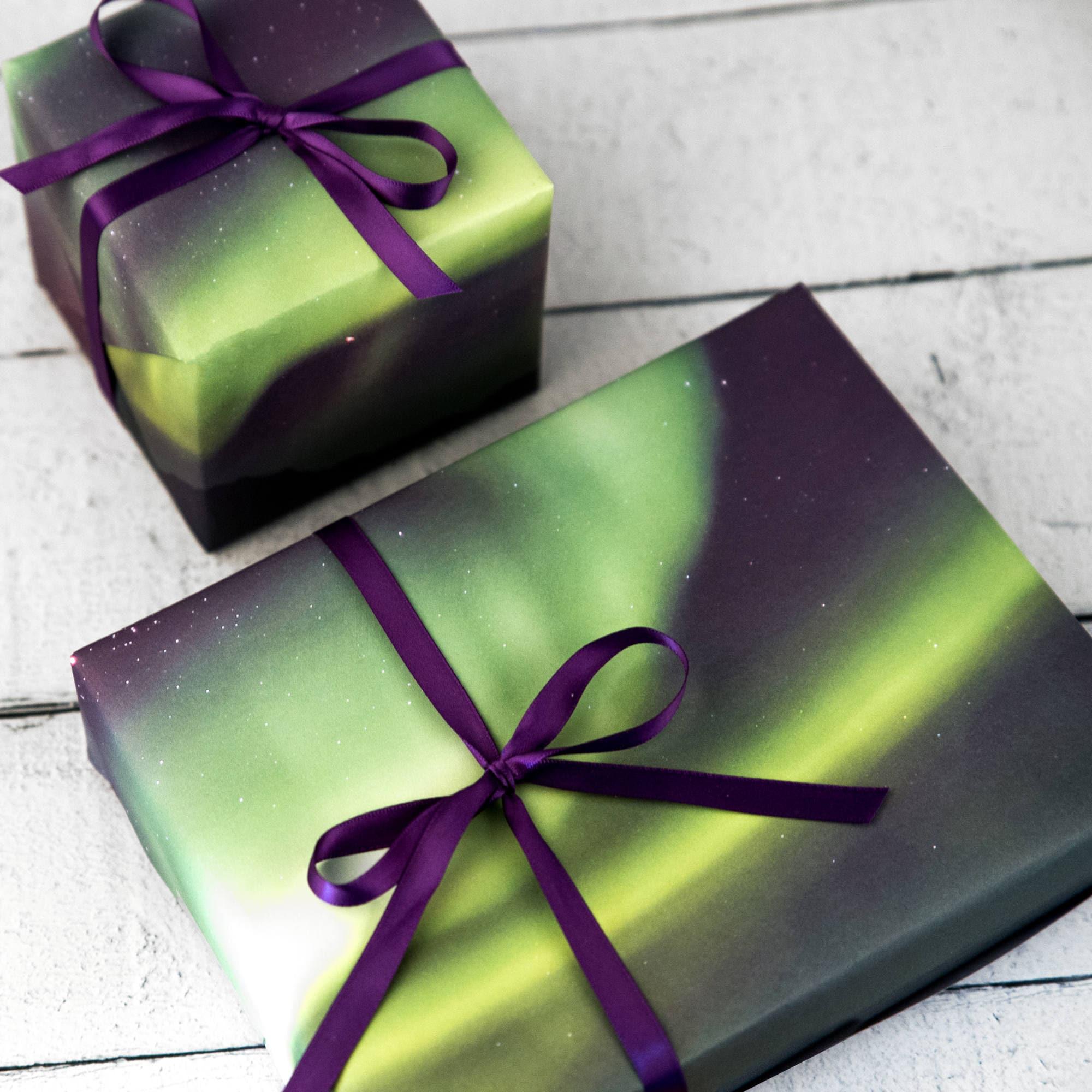 Weihnachten Geschenk-Wrap-Set Northern Lights Geschenkpapier | Etsy