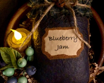 Primitive BlueberryJam Bowl Filler / Ornie