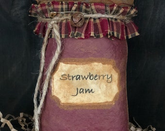 Primitive Strawberry Jam Bowl Filler / Ornie