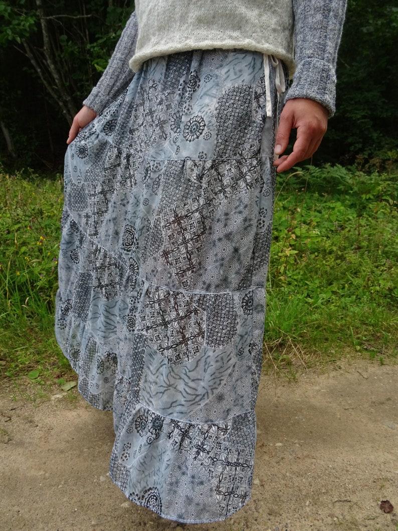 Maxi Skirt Chiffon Skirt Satin Lining Custom Size Romantic Low Waist Summer Outfit Custom Measurement Women Skirt