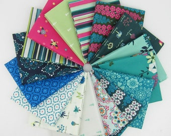 Loved to Pieces Fat Quarter Bundle - 16 Fat Quarters - 4 Yards Total