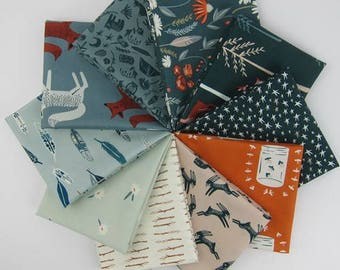 Campsite Fat Quarter Bundle - 10 Fat Quarters - 2.5 Yards Total