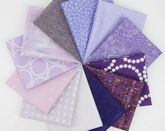 Purple Rain Fat Quarter Bundle - 11 Fat Quarters - 2.75 Yards Total