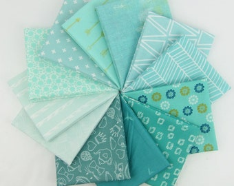 Tropical Tide Fat Quarter Bundle - 12 Fat Quarters - 3 Yards Total