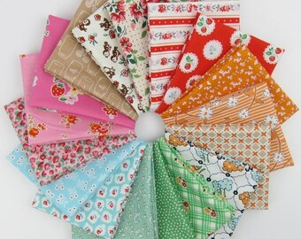 Modern 30's Remix Fat Quarter Bundle - 17 Fat Quarters - 4.25 Yards Total