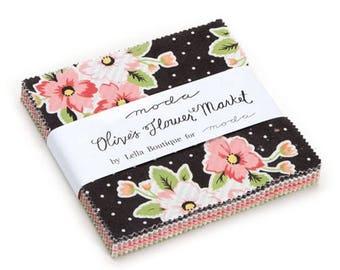 Olive's Flower Market Charm Pack by Lella Boutique