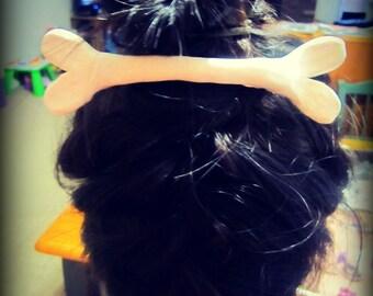 Hair Bone Barrette Cave Woman Wilma Pebbles LARGE