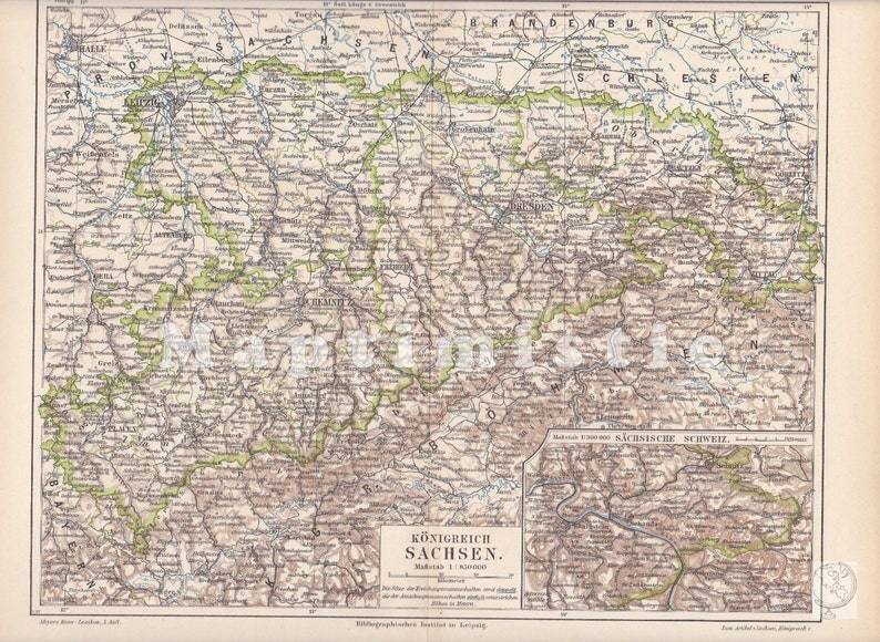 1897 Kingdom of Saxony, German Empire, with section map of Saxon Switzerland on lower saxony map, duchy of warsaw map, confederation of the rhine map, union of soviet socialist republics map, kingdom of saxony medal, confederate states of america map, kingdom of saxony in england, saxony location on map,