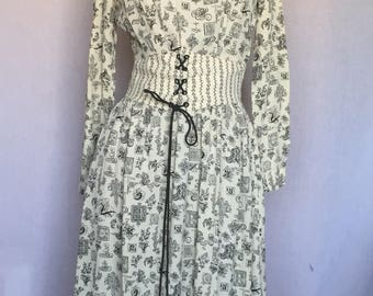 70's Young Edwardian praire dress