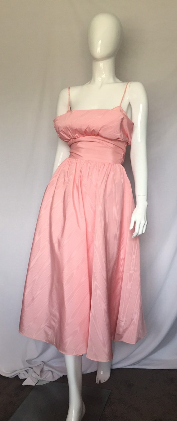80's Pastel Pink Prom Gown Size 2