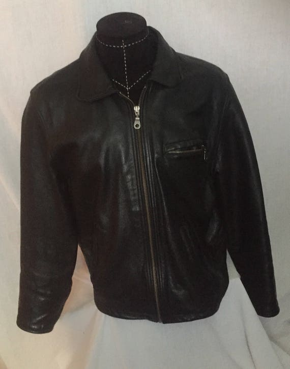 90's Black Leather Jacket