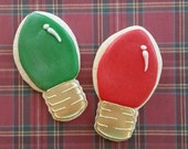 Items Similar To Christmas Light Bulb Sugar Cookies On Etsy