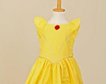 Belle Dress - Belle Costume - Yellow belle Dress - Cotton Belle Costume - Belle - Princess Belle - Beauty and the Beast Dress