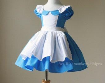Alice in Wonderland Dress - Alice Dress - Alice in Wonderland - Queen of Hearts - White Rabbit - Alice in Wonderland Costume & Alice in wonderland costume   Etsy
