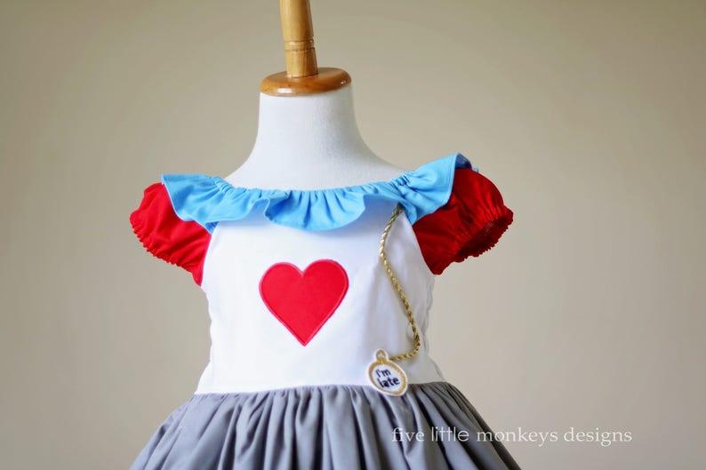 Alice in Wonderland Costume Alice in Wonderland White Rabbit Costume White Rabbit Dress Queen of Hearts White Rabbit