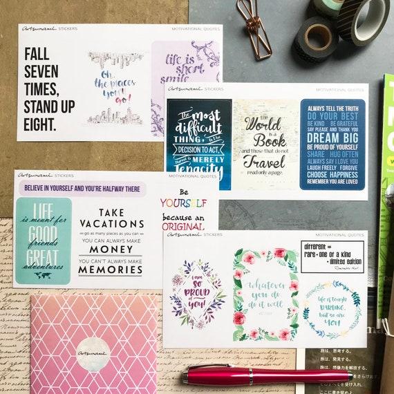 Big Quotes Artsunami Sticker Planner Journal Scrapbook